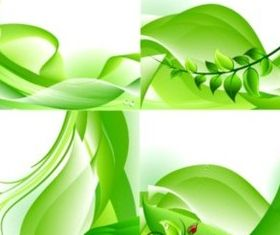 breath spring green background vector