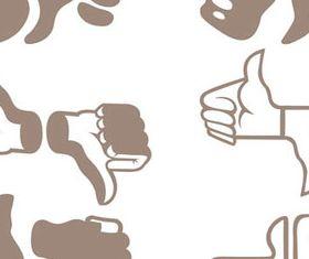 Hand Elements illustration 2 vectors graphics