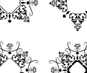 Black Swirl Ornament Frames 2 set vector
