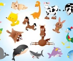 Animal Comics vector