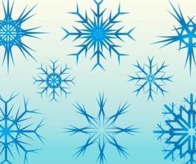 Free Ice Snow Vector Graphics set vector