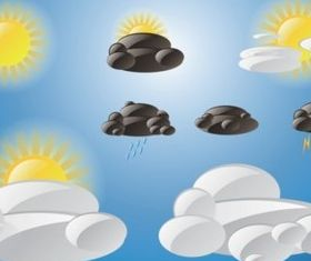Free Weather Icons set vector