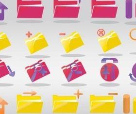 Computer Folder Icons vector
