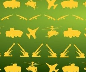 Military Icons Pattern vectors graphic