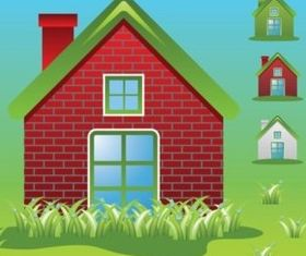 Green Home Ecology Vectors vectors graphics