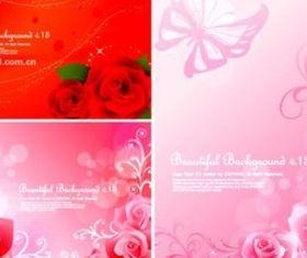 Bright rose fantasy background creative vector