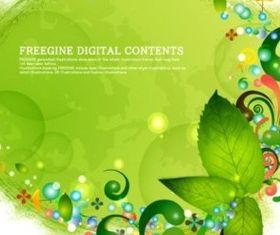 Fresh fantasy green design background Illustration vector