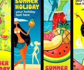 Summer beauty banner background vector