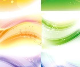 Different dream line flash background vector