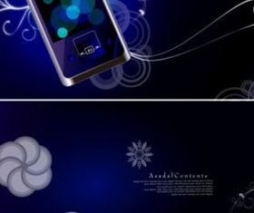 Colorful fantasy mobile phone background vector design