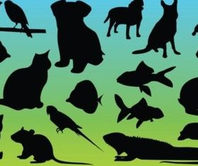 Animal Silhouettes Vectors vector