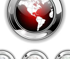 Shiny Globe Buttons 1 vectors