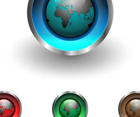 Shiny Globe Buttons 2 vector