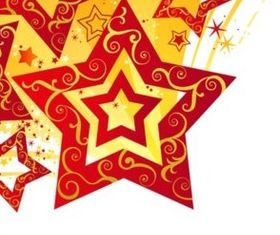 Flash Star New Year card background vector