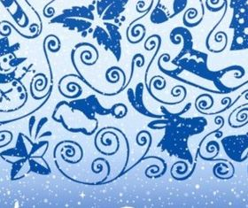 Bright blue Christmas decorations background vectors graphic