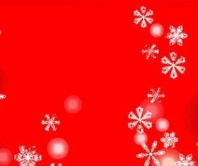 Red christmas snowflake background vector