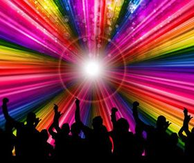 Party with Rainbow background vectors graphics