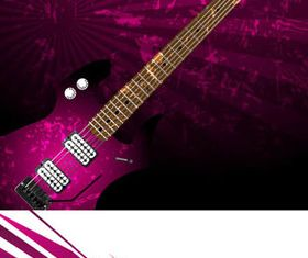 Grunge background with Guitar vector