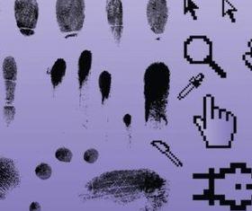 Fingerprint Pointer Graphics vector graphics
