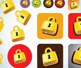 Different Locks icons vector