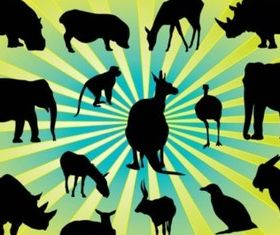 Animal Silhouettes Pack vectors material