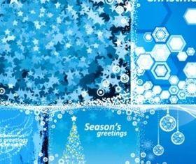 Dream Blue Christmas background vector design