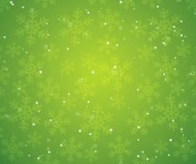 Design elements green christmas snowflake background vector