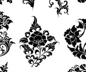 Different Floral Elements Illustration 1 vector