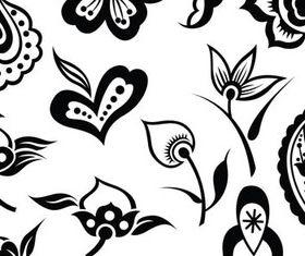 Different Floral Elements Illustration 2 vectors