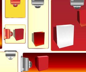 Office paper elements 2 vector graphics