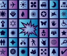 Blue Vector Icons vector graphics