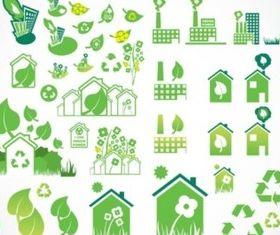 Environmental Icons shiny vector