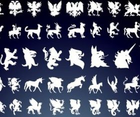 Mythical Creatures vector