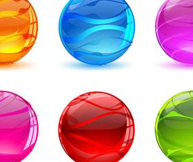 Colorful Glass Spheres 1 shiny vectors