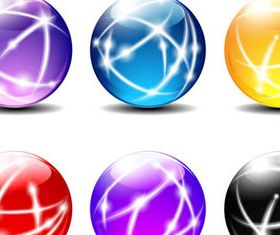 Colorful Glass Spheres 2 shiny vector
