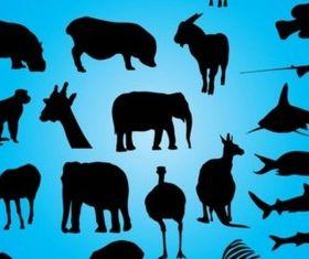 Various Animals design elements set vector