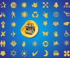 Gold Symbols vector