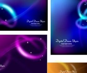 Intersection Shiny background creative vector