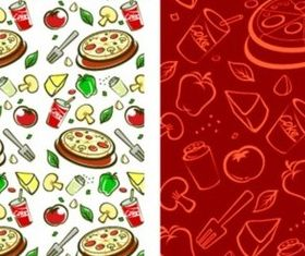 Fruit and vegetable theme background vector material