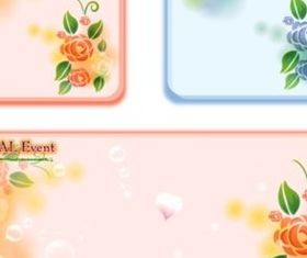 Sweet rose pattern stationery background vector