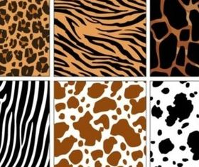 Different decorative animal pattern background vector
