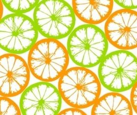 Fresh orange tiled background vector
