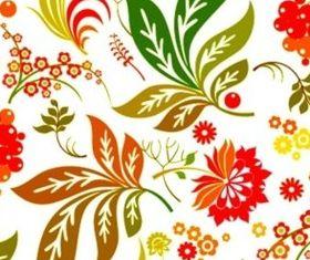 Brilliant flower tiled design backgrounds vector