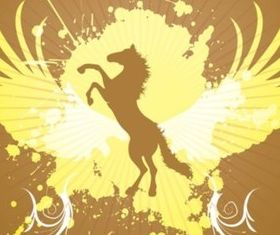 Jumping Horse Graphics creative vector