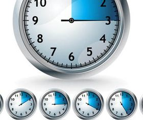 Various Blue Timers icon 1 vector
