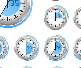 Various Blue Timers icon 2 vectors