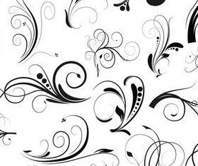 Curled Floral Ornaments Illustration 3 vectors
