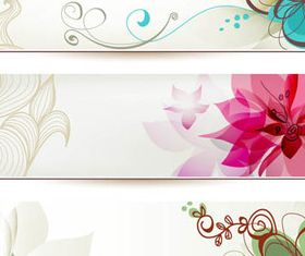 Vintage Flowers banner 2 vector