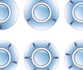 Shiny Blue Statistics Icons 2 vector graphic