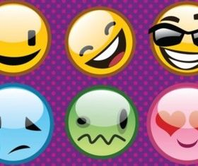 Cool Emoticons Illustration vector